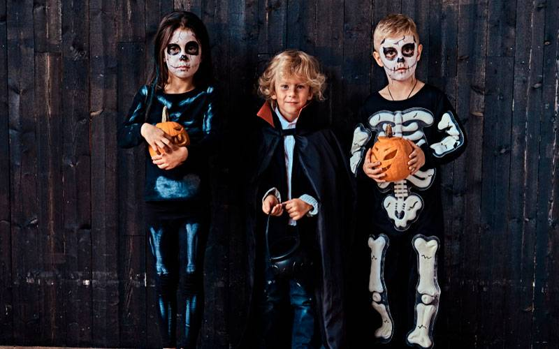Disfraz con pantalón para niña de Halloween