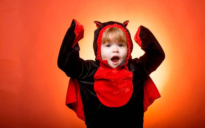 disfraz de Halloween para un bebé inquieto